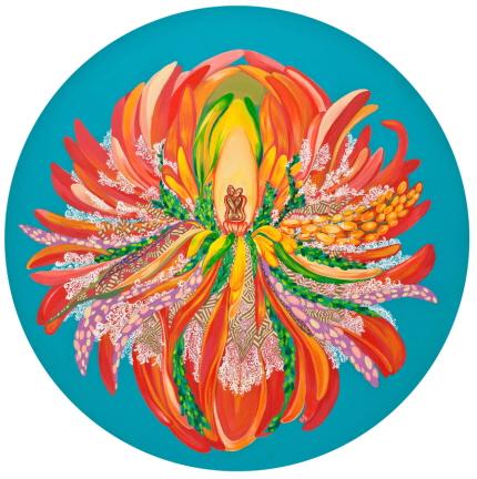 Blossom  Acrylic on Canvas 120x120cm 2012