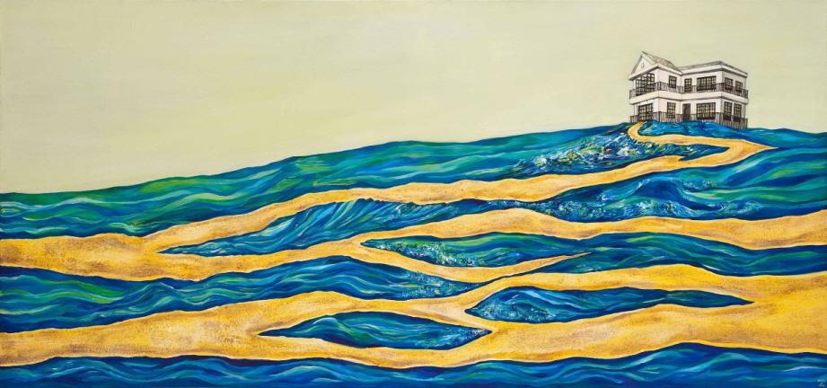 끝나지 않은 길   Acrylic on Canvas  70x150cm 2012